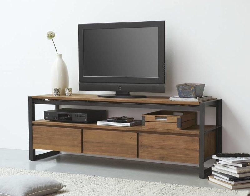 D-Bodhi TV meubel Fendy, 3 laden, 1 open vak