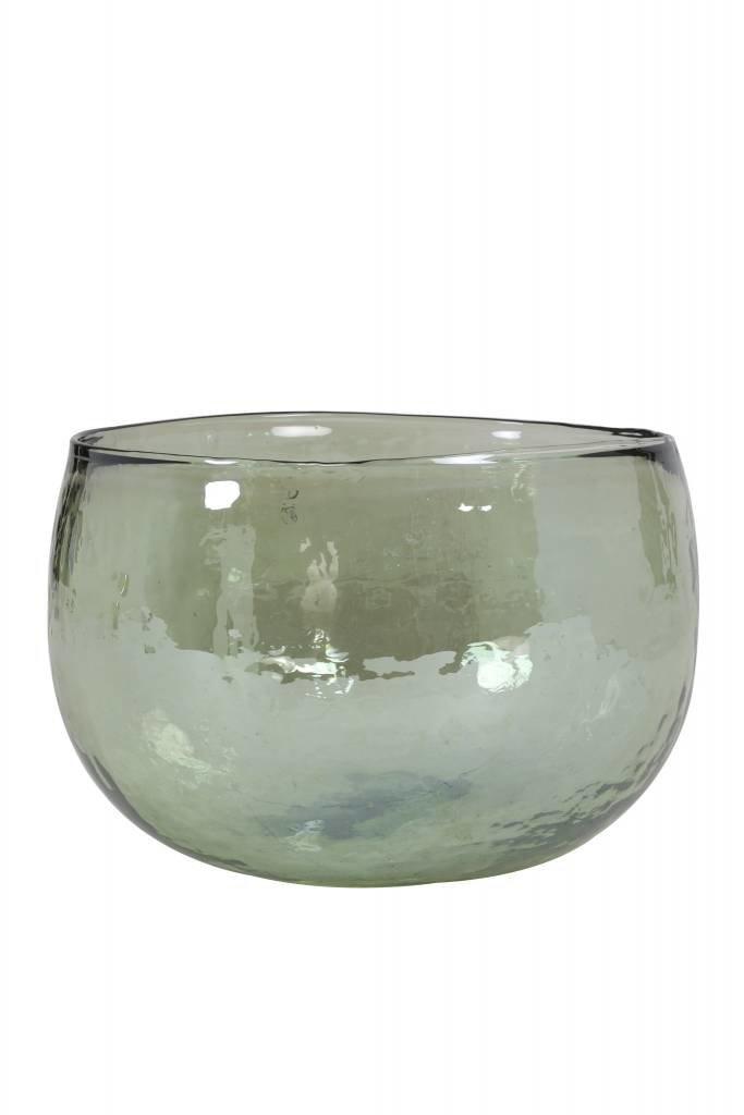 Light&Living Vaas Ø18,5x13 cm LAROT glas olijf groen