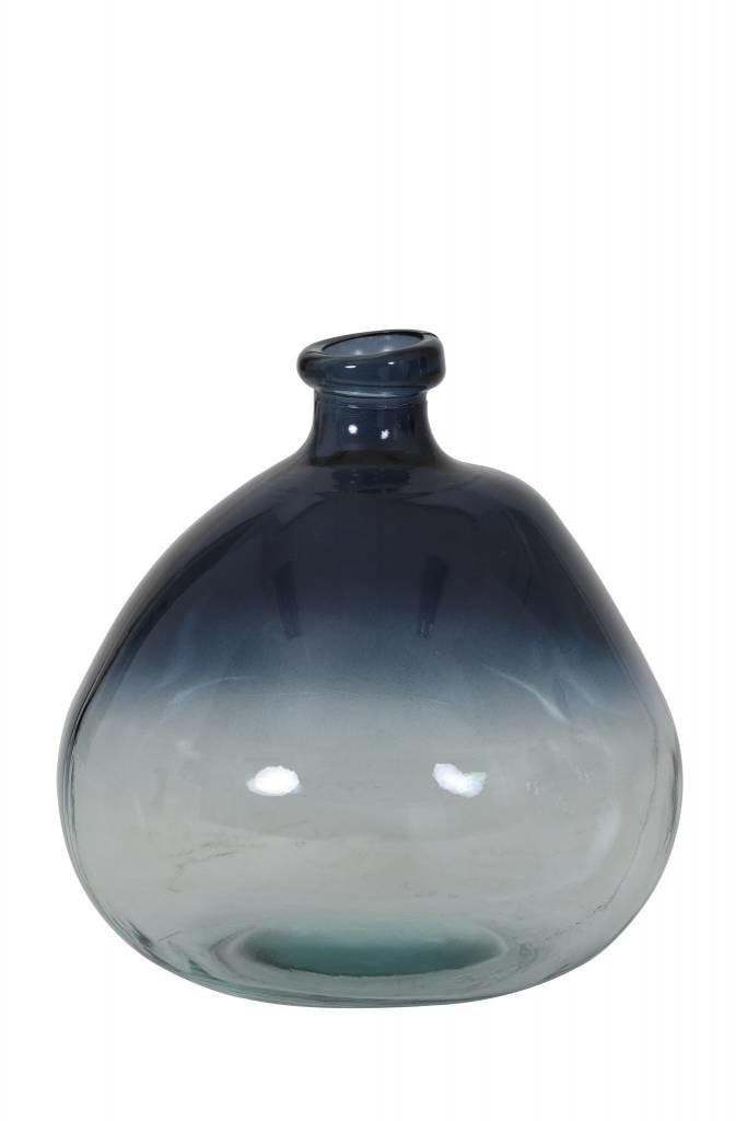 Light&Living Vaas Ø21x23 cm SELORES glas blauw-helder