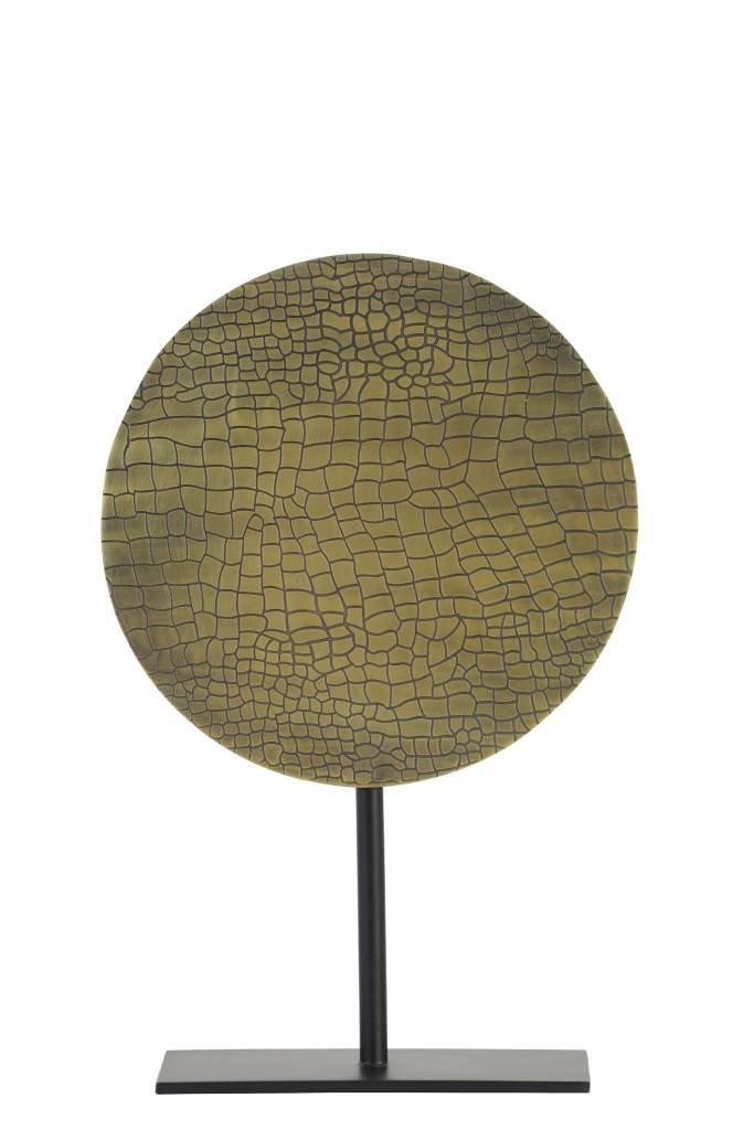 Light&Living Ornament op voet Ø25x38 cm CASIM ant brons croco-mat zwart