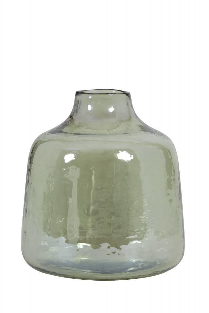 Light&Living Vaas Ø17,5x19 cm DEONI glas olijf groen