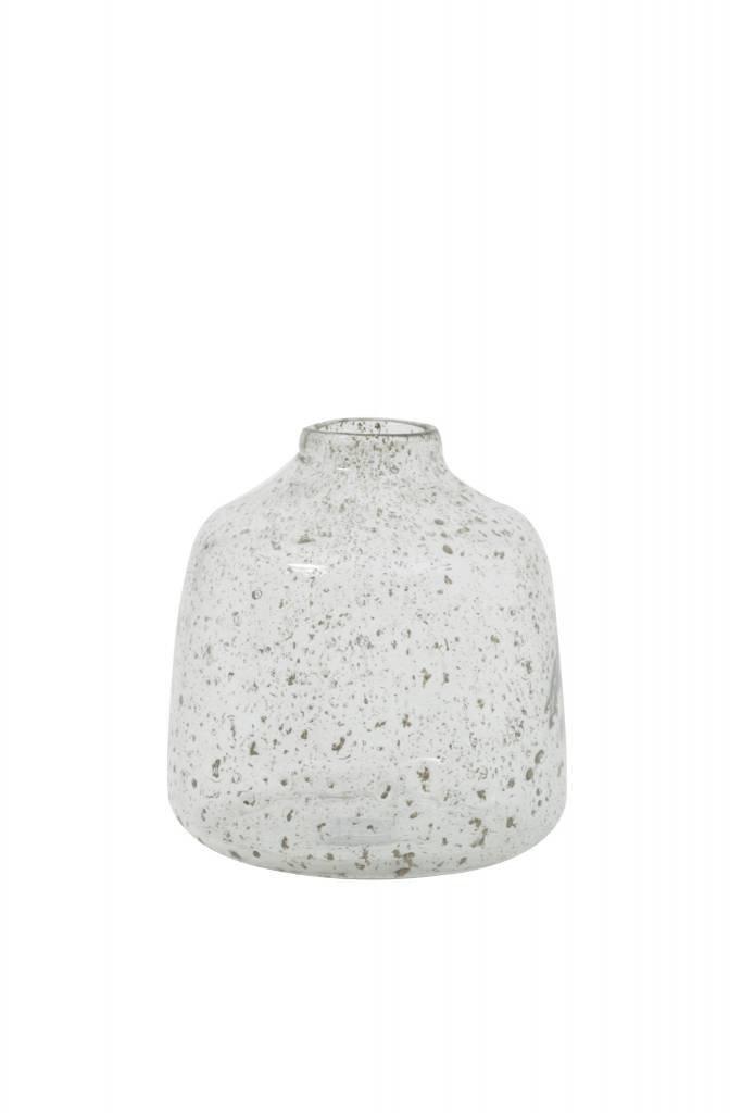 Light&Living Vase Ø17,5x19 cm DEONI Glas Steinschlag klar