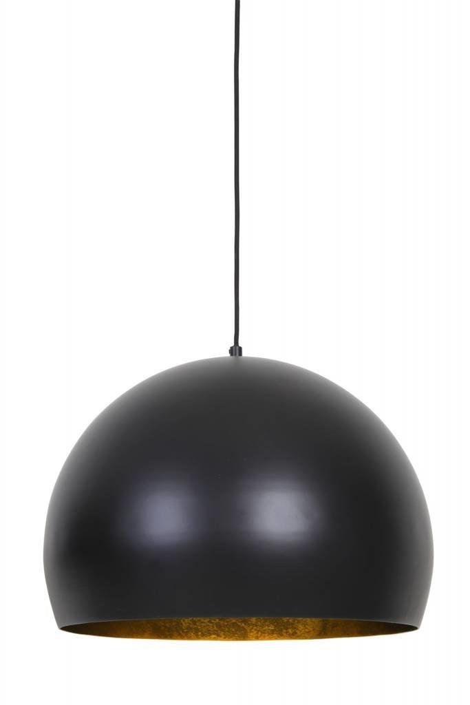 Light&Living Hanglamp Ø56x40 cm JAICEY mat zwart-goud