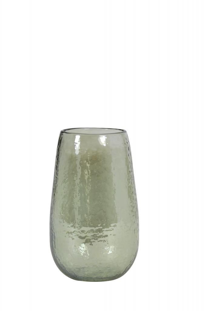 Light&Living Vaas Ø9,5x15,5 cm BOTIN glas olijf groen