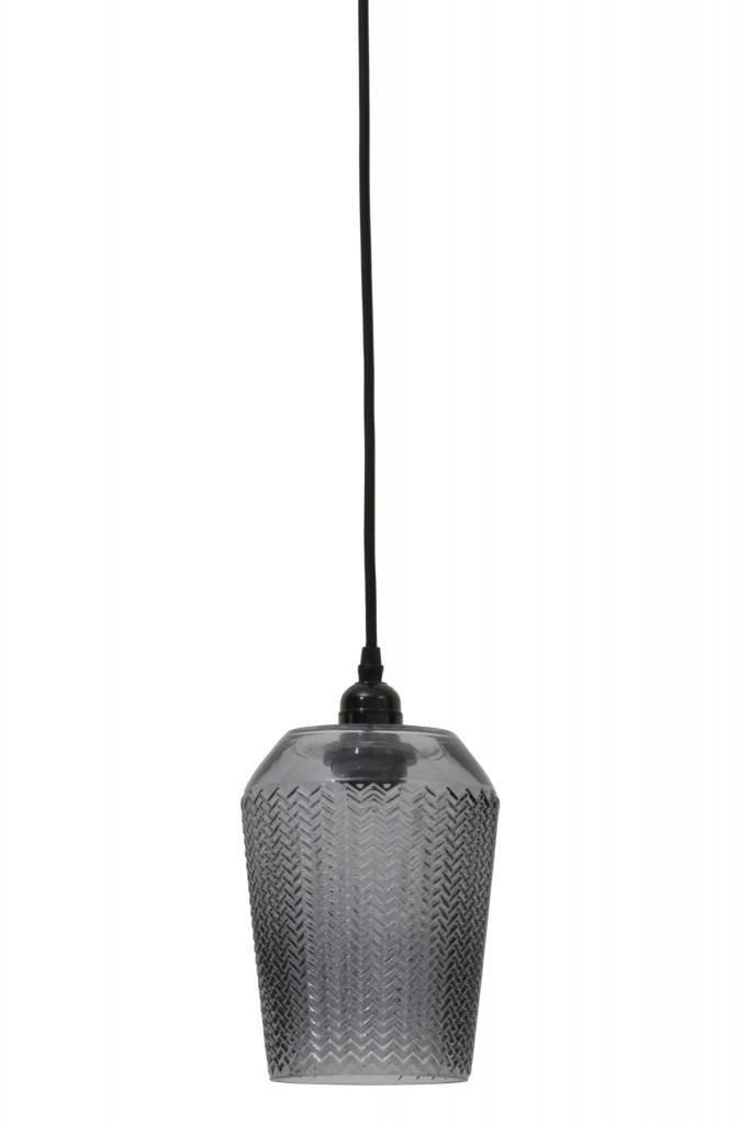 Light&Living Hanglamp Ø15,5x34 cm LORINA grijs