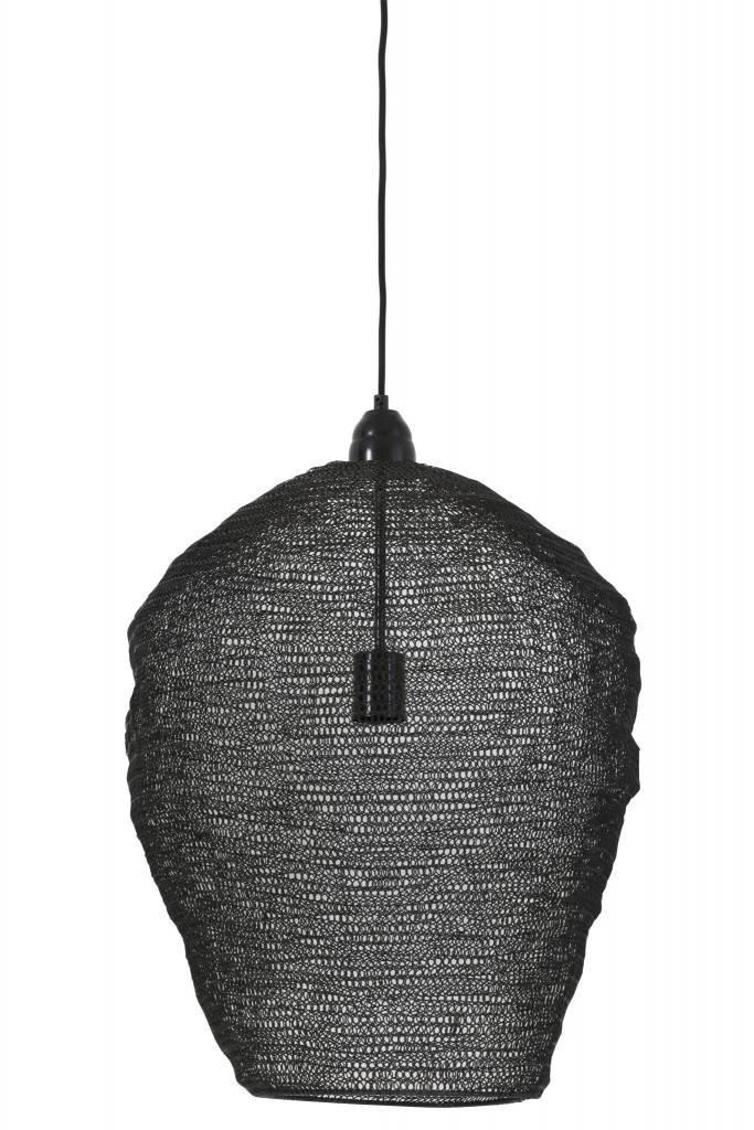 Light&Living Hängeleuchte Ø45x60 cm NIKKI Gaze schwarz glänzend