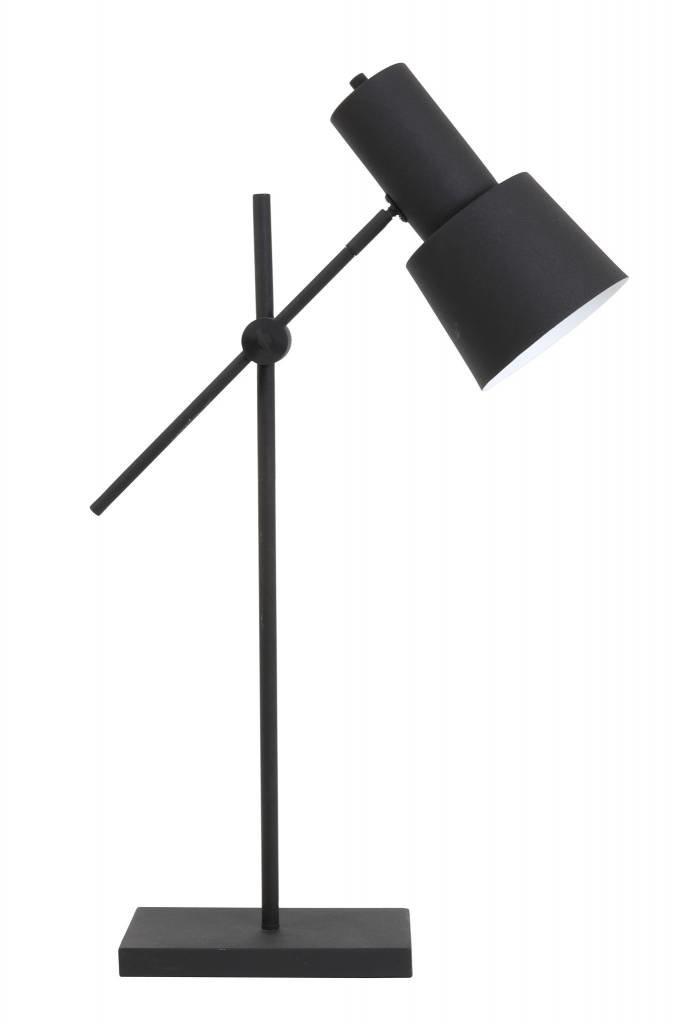 Light&Living Tafellamp 15x15x68-82 cm PRESTON zwart