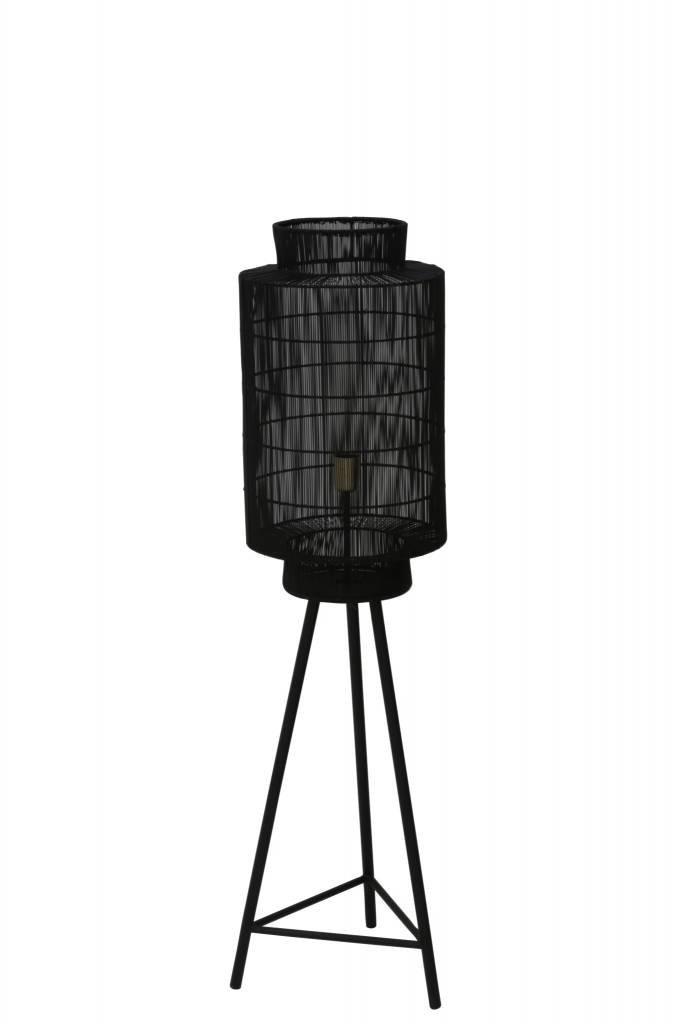 Light&Living Vloerlamp Ø32x150 cm GRUARO mat zwart-antiek brons