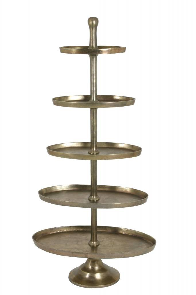Light&Living Etagere 5 laags ovaal 83x41x170 cm FAGERNES antiek brons