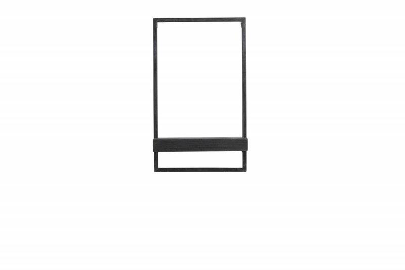 Light&Living Wand regal 30x15x50 cm MADDISON holz schwarz