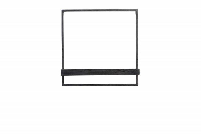 Light&Living Wandplank 50x15x50 cm MADDISON hout zwart