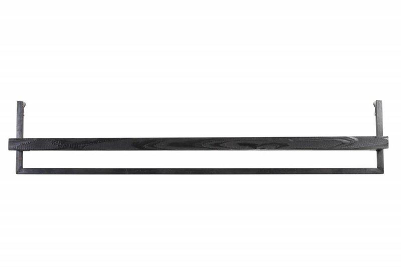 Light&Living Wandplank 120x18x24 cm MADDISON hout zwart