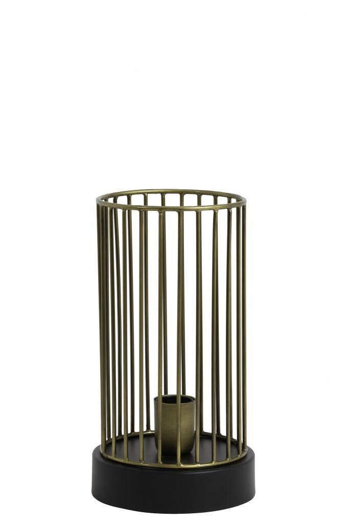 Light&Living Tafellamp Ø16x30 cm JORIM antiek brons-mat zwart