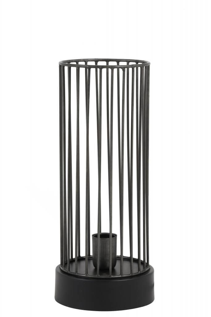 Light&Living Tafellamp Ø17x40 cm JORIM antiek zink-mat zwart