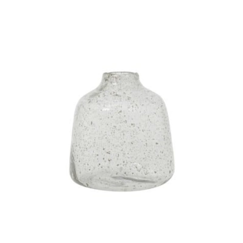 Light&Living Vaas Ø20,5x23 cm DEONI glas steenslag helder