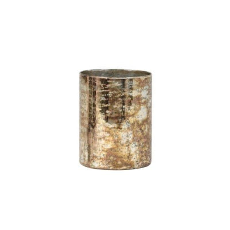 Light&Living Teelicht Ø12x15 cm ARCAS Glas antique Gold-Silber