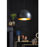 Light&Living Hanglamp Ø33x25 cm JAICEY mat zwart-goud