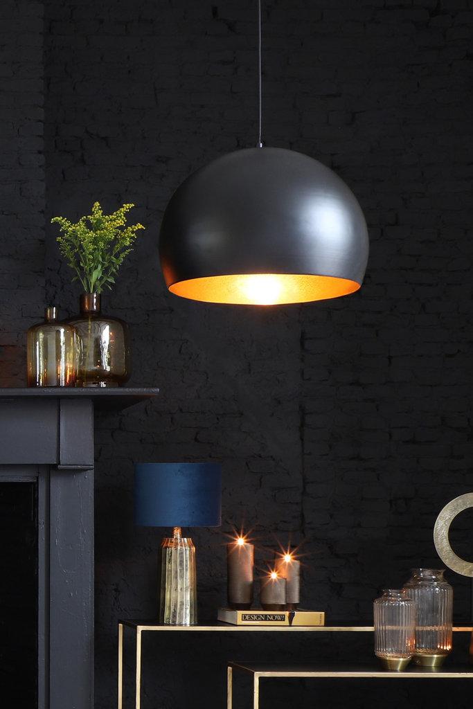 Light&Living Hängeleuchte Ø33x25 cm JAICEY matt schwarz-gold