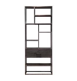 Eleonora Bücherschrank Hudson 1 Schublade - schwarz
