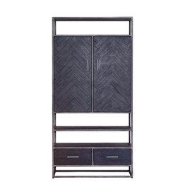 Eleonora Schrank Hudson 2 Türen 2 Schubladen - schwarz