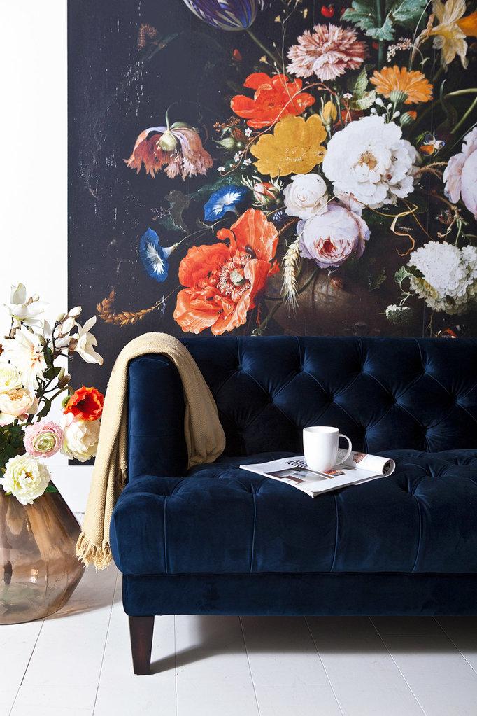 Eleonora Sofa Vogue - blau samt
