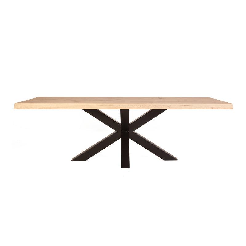 Eleonora Boomstam tafel met spinpoot - 200x100