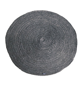 By-Boo Carpet Jute round 120x120 cm - grey
