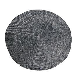 By-Boo Teppich Jute rund 120x120 cm - grau