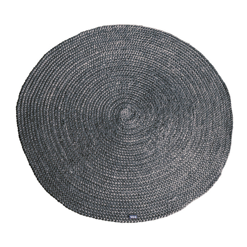 By-Boo By-Boo Carpet Jute round 120x120 cm - grey