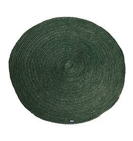 By-Boo Carpet Jute round 120x120 cm - green