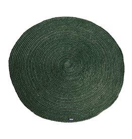 By-Boo Teppich Jute rund 120x120 cm - grün