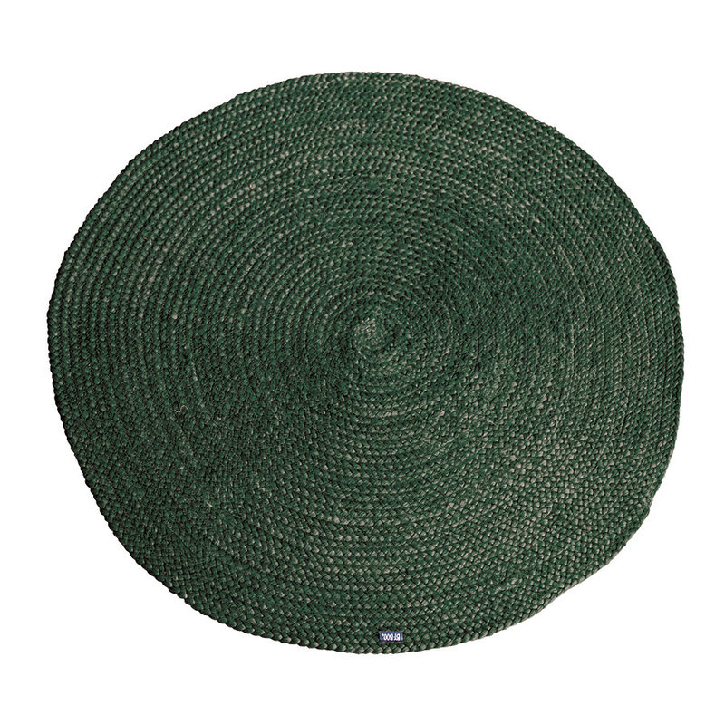 By-Boo By-Boo Carpet Jute round 120x120 cm - green