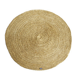 By-Boo Carpet Jute round 120x120 cm - yellow
