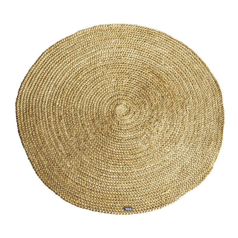 By-Boo By-Boo Carpet Jute round 120x120 cm - yellow