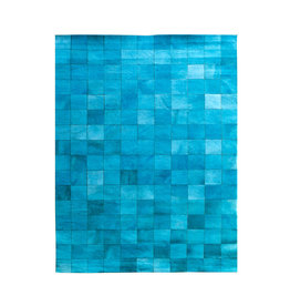 By-Boo Carpet Patchwork Leather 160x230 cm - turquoise