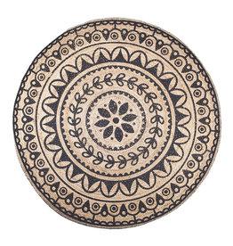 By-Boo Carpet Jute round 220x220 cm - black