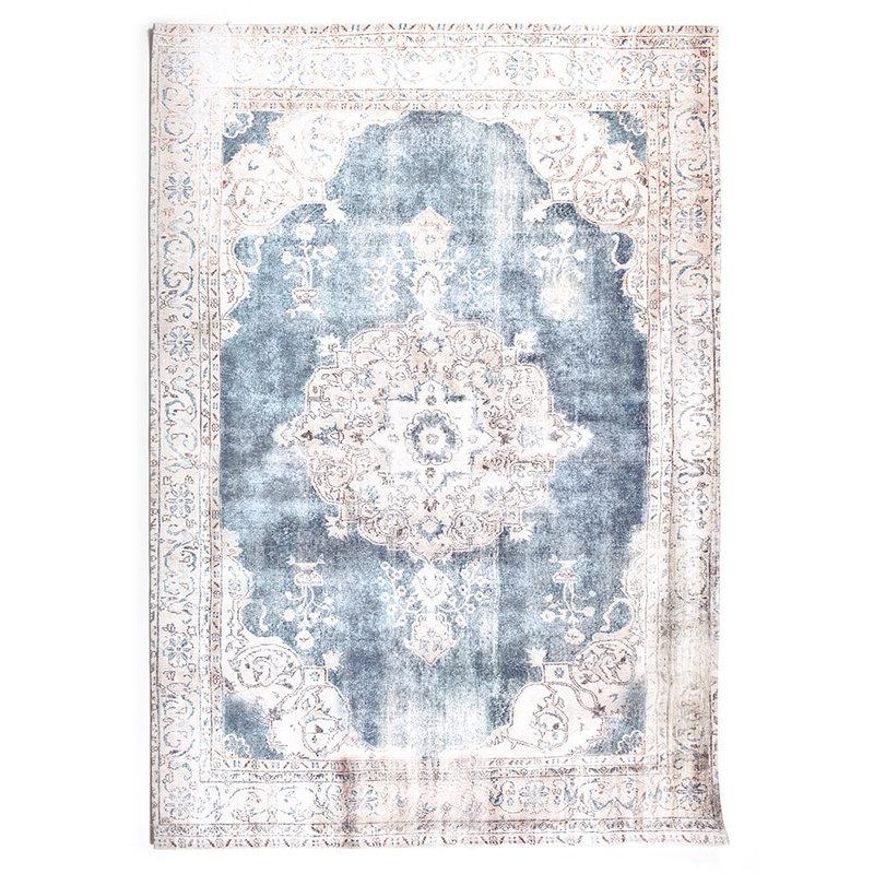 By-Boo Teppich Florence 160x230 cm - beige / blau