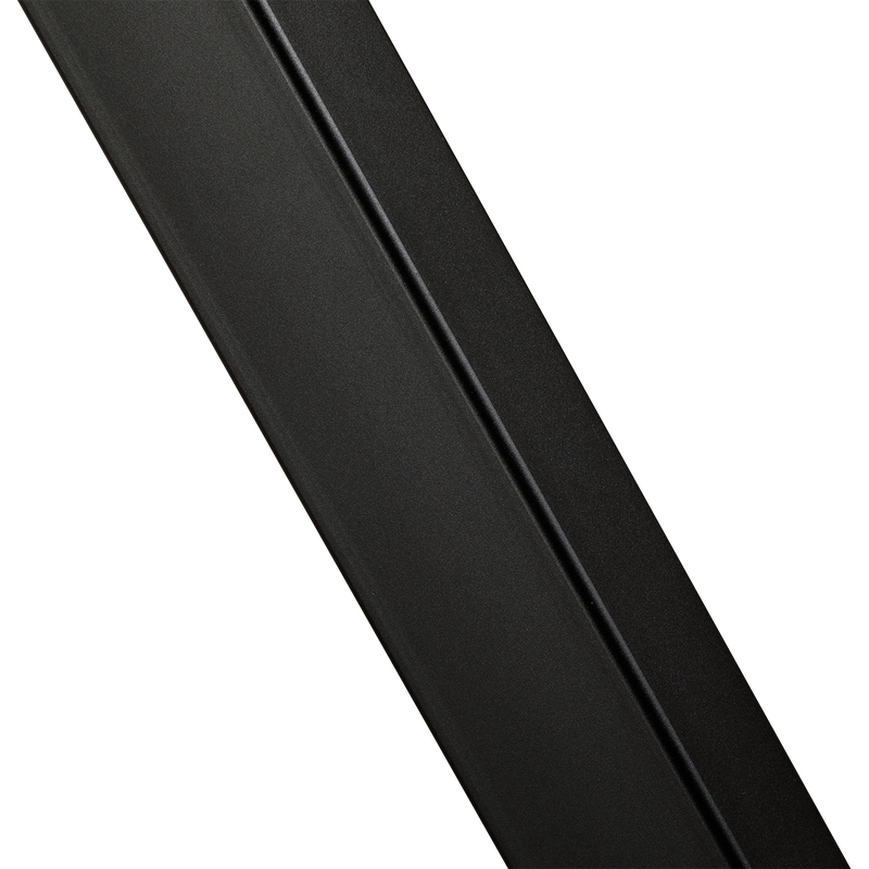 Zwart gepoedercoat