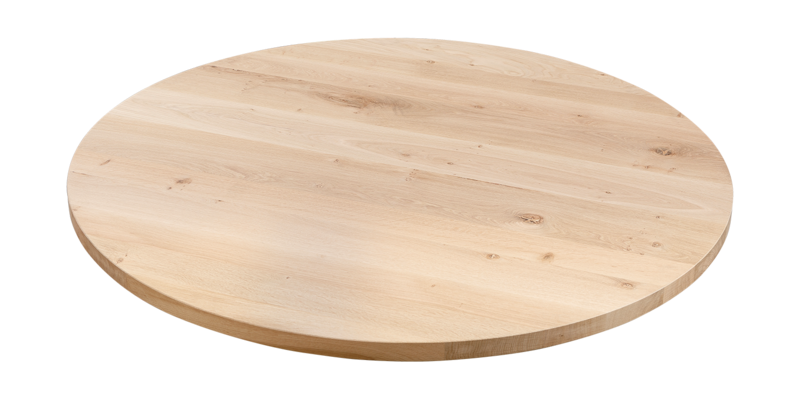 Balemo Ronde eikenhouten eettafel Strips