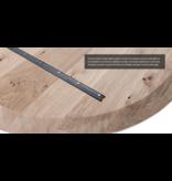 Balemo Ovale eikenhouten eettafel Balemo xx-poot 10x4