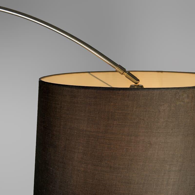 QazQa Booglamp XXL staal kap 45 cm schuin zwart
