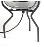 QazQa Tafellamp Bliss zwart met smoke glas  Art.