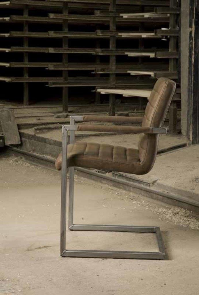 Sidd Bastia armstoel - brown