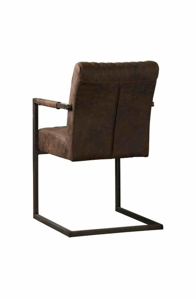 Sidd Ferro armstoel - dark brown