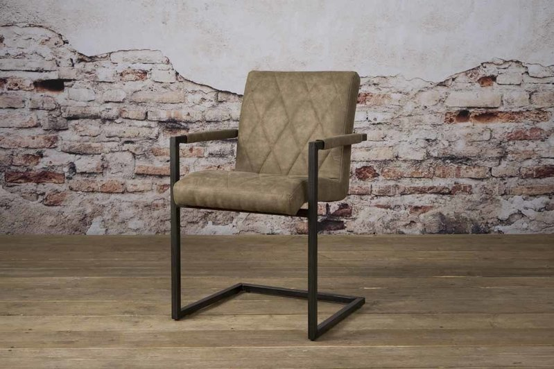 Sidd Lomba armstoel - fabric Houston 809 taupe