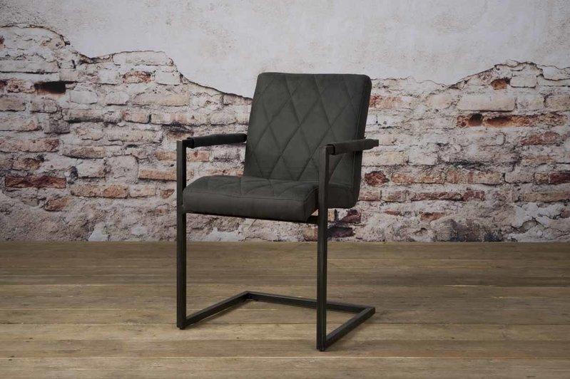 Sidd Lomba armstoel - fabric Houston 101 antracite