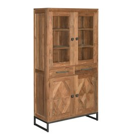 Toff Mascio vitrinekast 4 deuren - 2 laden