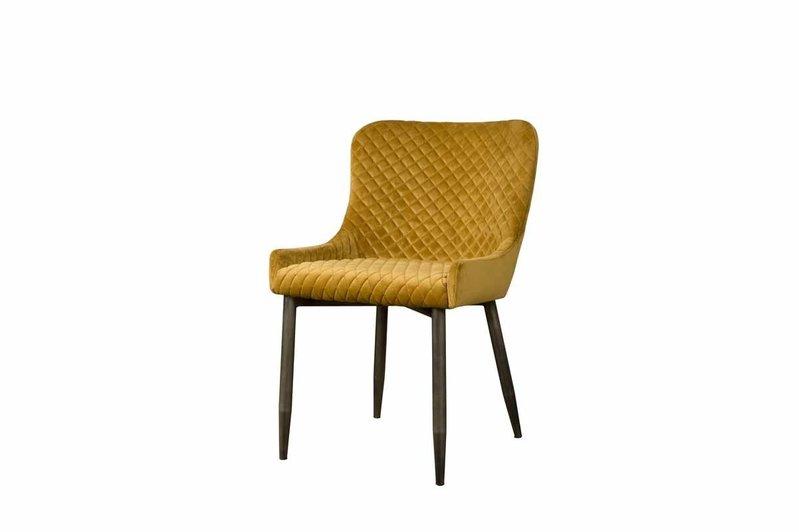 Sidd Oledo stoel - fabric Bluvel 68 yellow