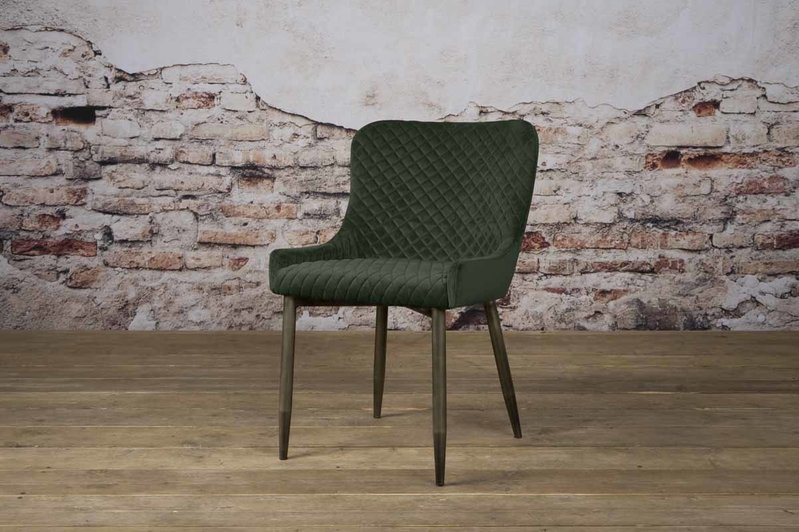 Sidd Oledo stoel - fabric Bluvel 78 green