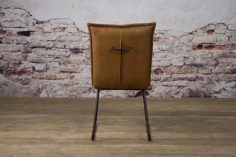 Sidd Seda stoel - fabric cherokee 8 cognac